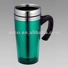 16 oz Travel Mug w/ Handle & S/S Interior - Green