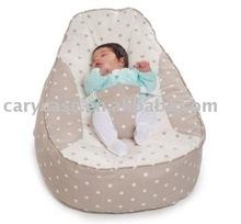 grey vintage baby beanbag, baby bed, baby sleeping chair