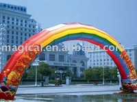 colorful inflatable arch for advertising