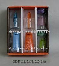 glass oil/vinegar & spice bottle
