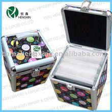 100-peices aluminum cd box,fashion mini cd storage