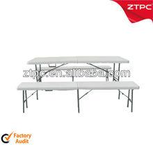 Cheap plastic long narrow folding picnic table