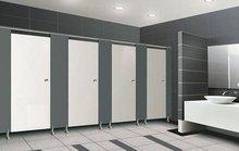 Toilet cubicle high pressure laminate aluminium accessories steel stainless public toilet cubicles