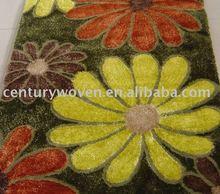 2012 new design!!! flower design acrylic shaggy carpet