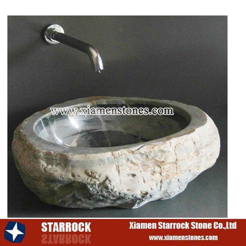 Pierre lavabo lavabo de salle de bain id du produit for Evier de salle de bain en pierre