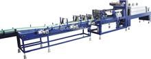 Automatic linear PE film shrink pack machine