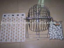 13 inch play mental casino bingo Set/wooden bingo set/ metal machines bingo