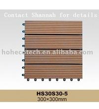 wood plastic composite deck tile/interlocking floor tile-easy installation