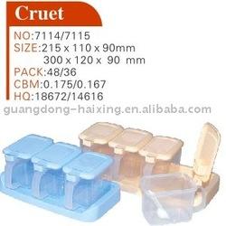 plastic cruet set