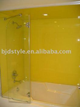 showerscreen tempered glass splashback for bathroom