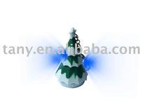 Christmas tree led keychain