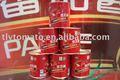 Alimentos enlatados; pasta de tomate