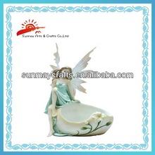 Polyresin garden fairy, flower fairies
