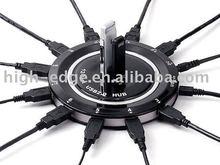 USB HUB 3.0 12 Port(6 PORT 2.0,6 PORT3.0) charging for iPhone/iPad,smart phone, tablet PC.