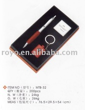 high quality ball pen set ball pen with keychain set