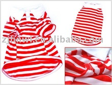 fashionable stripe dog polo
