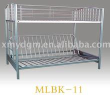 metal futon sofa bunk bed in silver(MLBK-11)