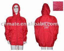 Polyester rib-stop wind jacket