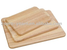 rubber wood cutting board chopping block with 3 different sizes