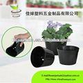 Maceta PE para vivero negro macetas decorativas para jardín granja venta al por mayor