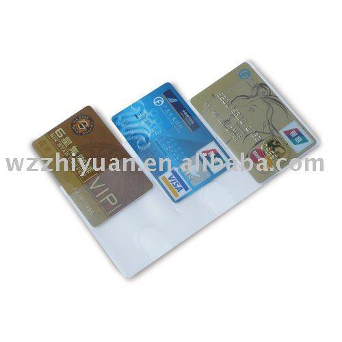 Clear Bank Card Clear Pvc Triple Bank Card
