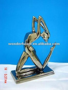 Elegant sportman porcelain sculpture