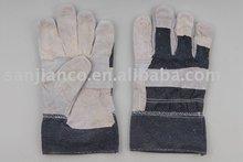 long cuff work glove Stripe back Rubberized Cuff Full Palm Working Gloves CE