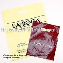 Die cut handle reusable bag