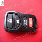 TD 4 button remote case for Nissan