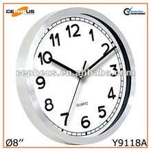 8'' Small Wall Clock Metal