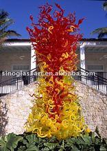2014 New Patterns High Quality Glass Art Lamp Sculpture