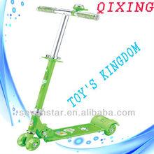 full iron mini kick scooter with 4pcs small flashing wheel