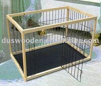 folding wood pet cage