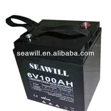 Sealed maintenance free lead acid battery 6v 100Ah used for solar system