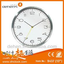 decorated quartz aluminium wall clock