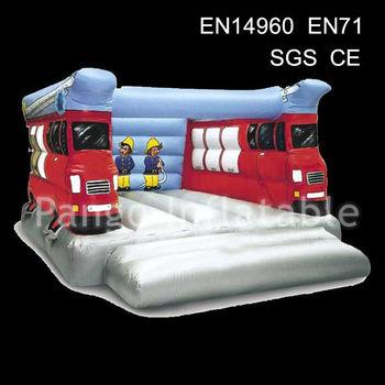 2013 fire truck inflatable moonwalk