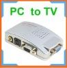 VGA to TV Video AV Signal Converter video Switch Box