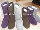 cow suede upper sheepskin linging snow boot