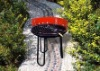 Outdoor picnic red charcoal barbecue grill