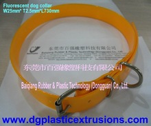 fluorescent dog collar (TPU fluorescent dog collar )