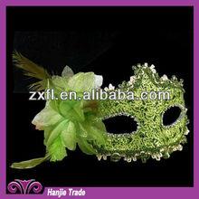 2015 Fashionable Design Green Color Half Face Mask For Wedding Mask