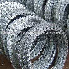 galvanized razor barbed wire coil;barbed wire