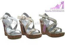 high heel wedge shoes, casual women wedge sandal, china wedges lady
