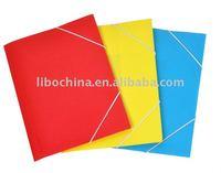 PP 3 flap folder with elastic closure