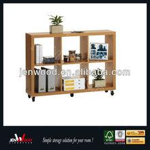 5 wheel wood bookshelf