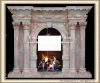 artificial stone fireplace mantle