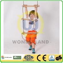 Children wooden rope climbing ladder