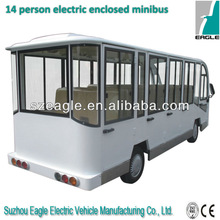 14 seats electric closed minibus, EG6158KF01,48V/5KW Series, CE approved