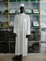 CM155 Popular white,khaki,grey color saudi arab men thobe