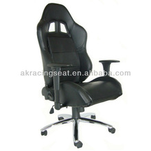 high quality black leather cover lounge executive office chair
